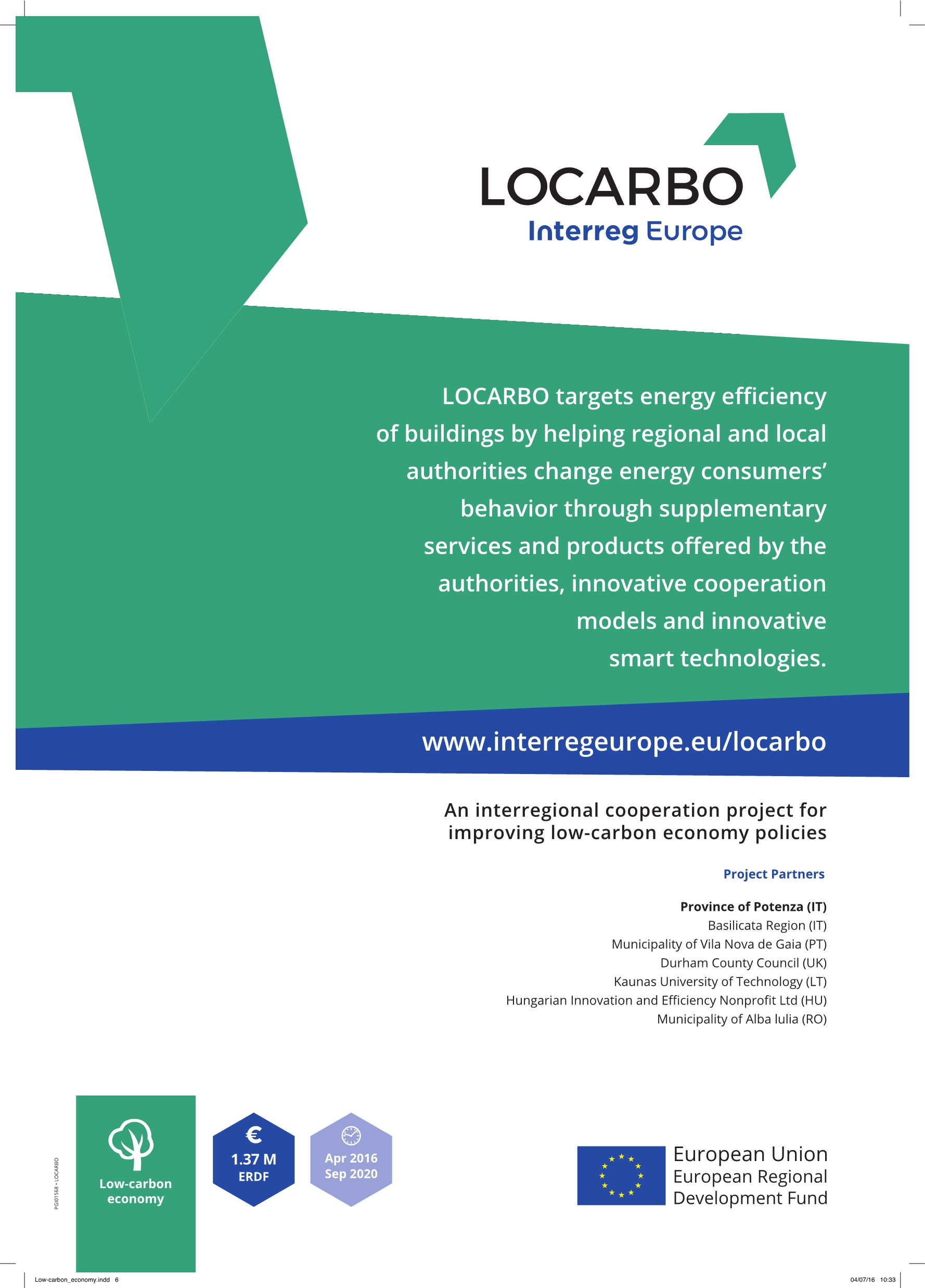 PROGETTO LOCARBO-INTERREG EUROPE 2014-2020 - #weResilient
